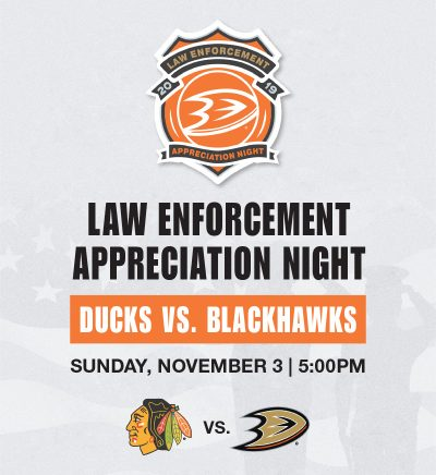 Anaheim Ducks Law Enforcement Night 2019